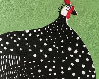 Guina fowl silkscreen print