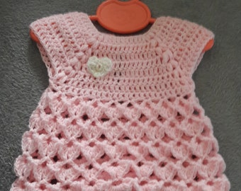 Pink baby dress 1 month