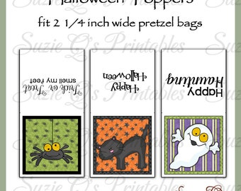 Halloween Pretzel Bag Toppers - US and International Sizes - Digital Printable - Immediate Download