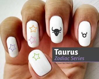 Taurus Zodiac - Water Slide Nail Decals
