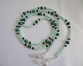 Malachite Beaded Eyeglass Chain