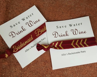 Save water drink wine bachelorette favor sets