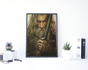 Lord of the Rings Poster, Lotr Art, Lotr Home Decor, Lord of the Rings Print, Gandalf Poster, Lotr Wall Art, Lord of the Rings Wall Art