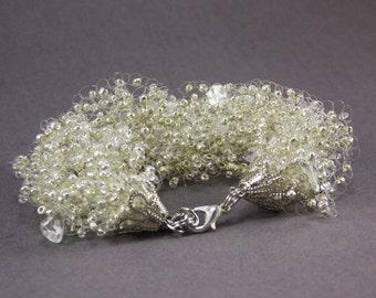 Mothers day gift for sister pearls bracelet bridesmaid bracelets silver wedding pearl bracelet metallic bracelet Silver bracelets for bridal