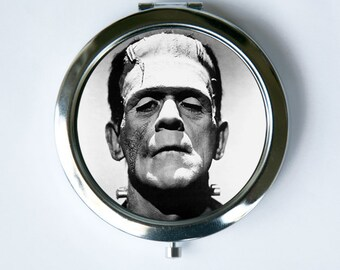 Frankenstein Compact MIRROR Pocket Mirror gothic psychobilly horror movie punk vintage