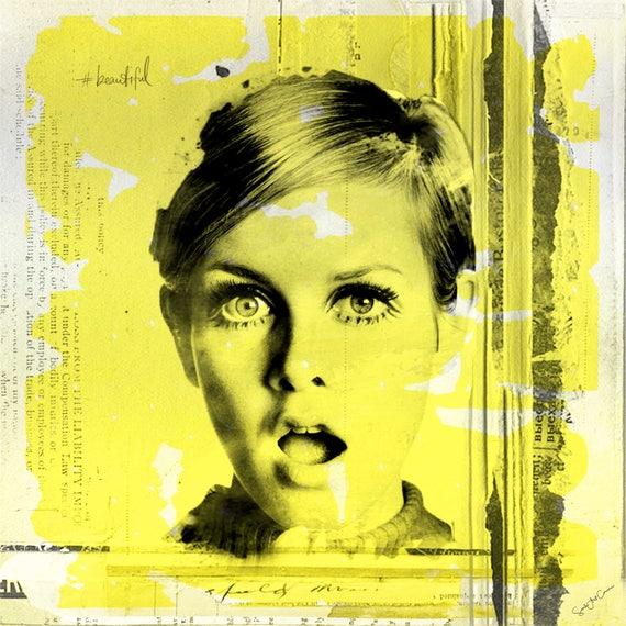 Oh Twiggy Collage Bert Stern Vogue fashion Fine art