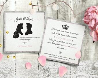 Printable Wedding Invitation | Fairy Tales Invitation | Disney Wedding Invitation | Wedding Invite | Princess invitation