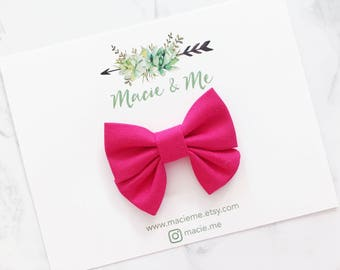 Bright Pink Mini Sailor Bow / Macie and Me