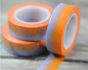 Washi tape 10 m degraded orange shade - pretty masking tape bicolor: deco tape