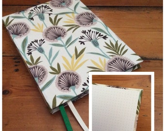 Bullet Journal/A5/fabric covered/handmade/handbound book/fabric covered/large journal