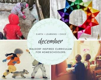 Waldorf Inspired December Homeschool Curriculum Guide, Nature Based