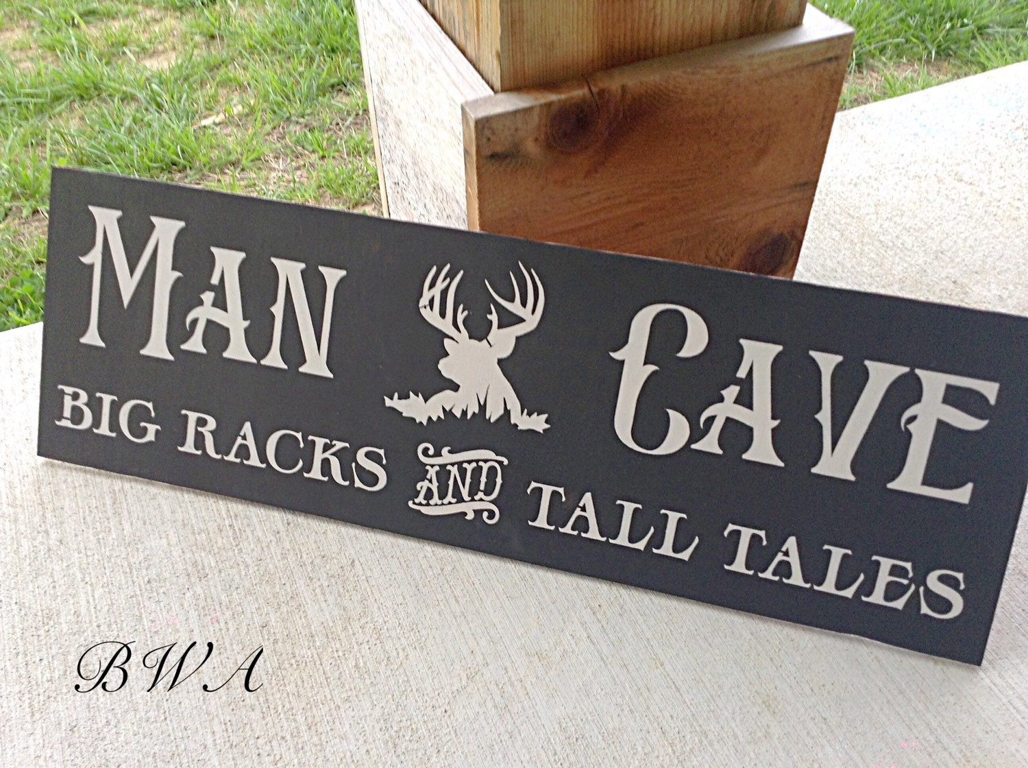 Hunting Man Cave Accessories : Man cave sign deer hunting wood