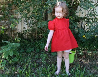 Ponyo Cosplay Costume - Dress and Bloomers (Nappy Cover) - Size 2-3 Years