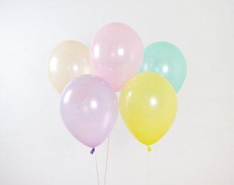 Pearl Pastel Balloon Set, Unicorn Balloons, Unicorn Birthday Party, Kids Party Balloons, Pastel Party Decor, Paste Rainbow, Easter Balloons