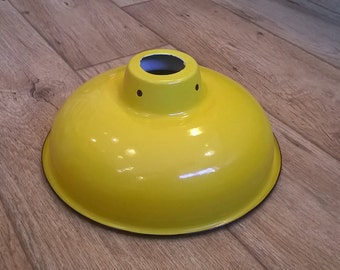 Enamel Lamp Shade - Yellow