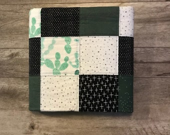 Cactus Quilt - Minky Backed