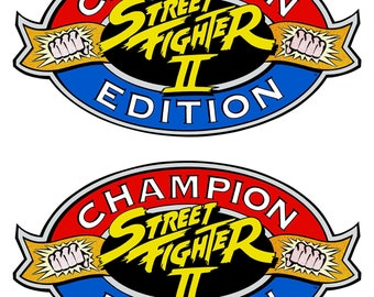 Street Fighter 2 Champion Edition Side Art Cabinet Graphic Stickers/Reproduction