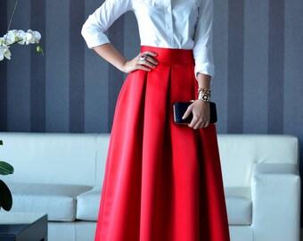 Duchess skirt floor-length
