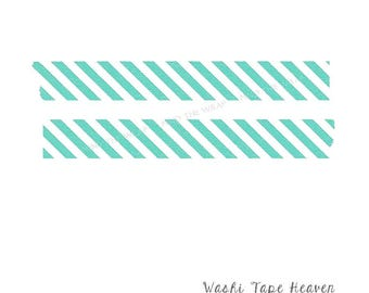 Mint Green Lines Collage Supplies Crafts Washi Tape 15mm X 10m
