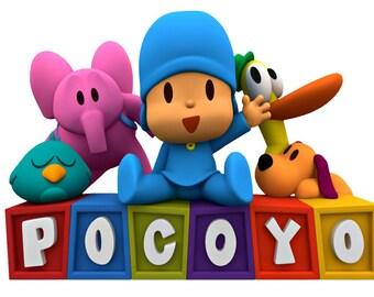 Pocoyo Image, Pocoyo Cutout,Pocoyo and Friends Image, Pocoyo aand Friends Cutout, Pocoyo Template,Large Pocoyo and Friends,TV Cartoon Cutout