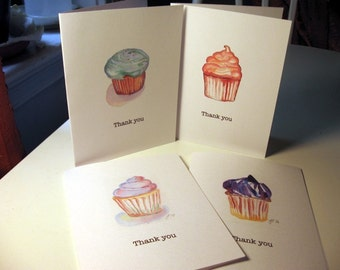 Thank You Notes - Card Set - Cupcake Art Thank You Cards, Set of 8