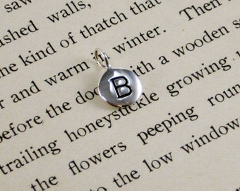 """Sterling Silver Letter  """"B"""" Charm"""