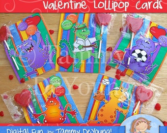 Monster Valentine Cards for kids, Printable Boys Valentines, Sports Monster candy treat holders for classmate exchanges, school party favors