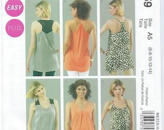 McCalls 6359 - MISSES Tunics - Sizes 6, 8, 10, 12, 14
