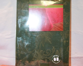 New Old Stock Holiday Joy Green Tablecloth 60 x 84 Oblong