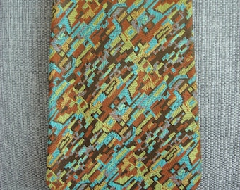 "Vintage 1950's Silk Necktie, Imperial Wear Made in USA, Colorful Design, 60"" Long Necktie, Tall Man's Tie, Mid Century Clothing Style"