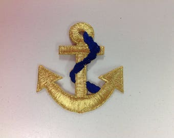 Gold Anchor Patches