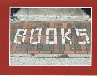 Books in brick - photo card