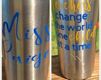 Teacher tumbler, personalized teacher gift, personalized teacher tumbler, teacher appreciation gift, personalized tumbler