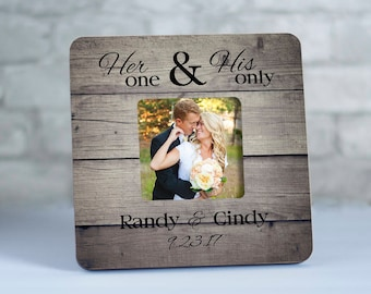 Personalized Wedding Gift for Couple, Wedding Frame for Mr and Mrs Picture Frame, Photo Frames for Newlyweds, Established Frame