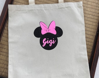 Mouse heavy duty canvas tote