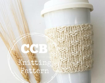 Ida Coffee Cozy / Cup Sleeve PATTERN - 2 Sizes