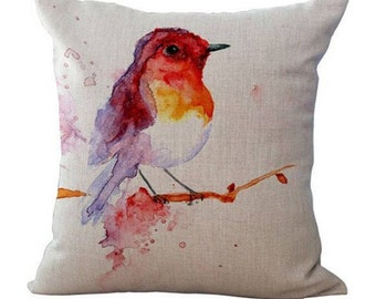 Red Bird Oil Painting Pillowcase