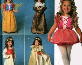Princess Fairy Renaissance Gowns Girls Costume Simplicity 7378 Childrens Costume Sewing Pattern Size 3-8 UNCUT