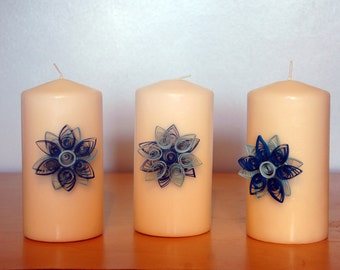 Custom Made Quilled Decorative Candles
