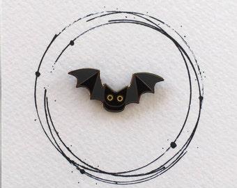 Bat Enamel Pin, Bat Pin, Bat Pin Badge, Bat Badge, Bat Lapel Pin, Bat Lapel Badge, Bat Enamel Pin Badge, Bat Accessory, Bat Gift, Cute Bat
