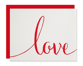 Love Card - Love - Valentine's Card - Relationship Card - Letterpress Greeting Card