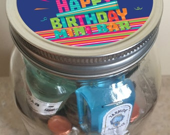 Birthday Minibar in a Jar - Birthday Cake