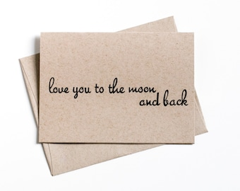 Simple love card etsy clearance sale simple greeting card paper goods love you to the moon blank greeting card inventory sale spring sale clearance m4hsunfo