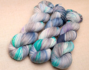 Hand dyed yarn 'Gathering Storm' Sock