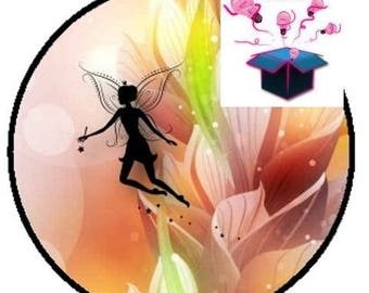 1 glass domed fairy 14 mm cabochon