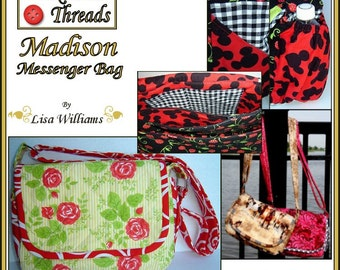 INSTANT DOWNLOAD: Madison Messenger Bag - diy Tutorial pdf eBook Pattern - 3 Sizes Included