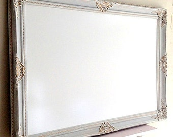 Large DRY ERASE BOARD Whiteboard Bulletin Board Gray Grey French Country Decor Memo Board Office Kitchen Magnetic Magnet Board Home Office