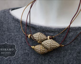 Outstanding Paper Bead Necklace (3 pieces only!)