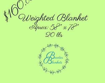 Weighted Blanket 58x78 20lbs