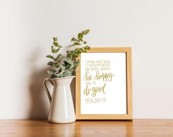Ecclesiastes 3:12 Print